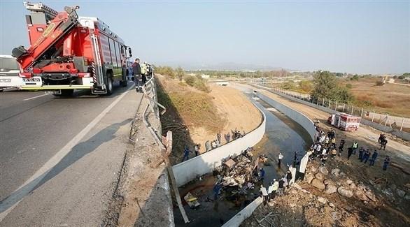 تركيا: مصرع 15 شخصاً بعد تحطم شاحنة تهريب مهاجرين
