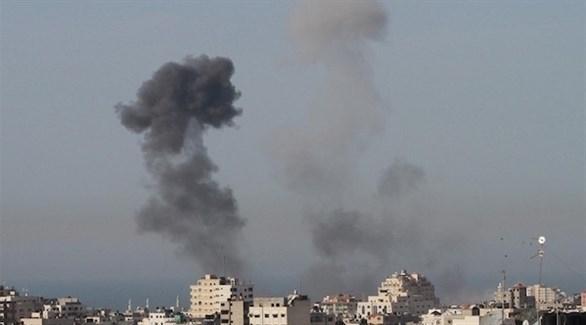 غارة إسرائيلية على غزة بعد إطلاق صاروخ على بئر السبع