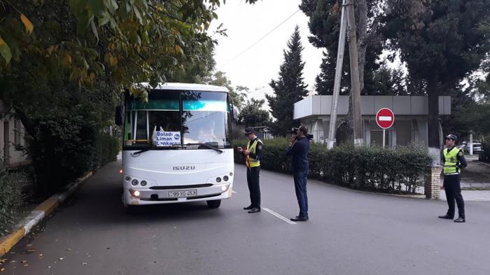 DYP Lənkəranda avtobuslara qarşı reyd keçirdi