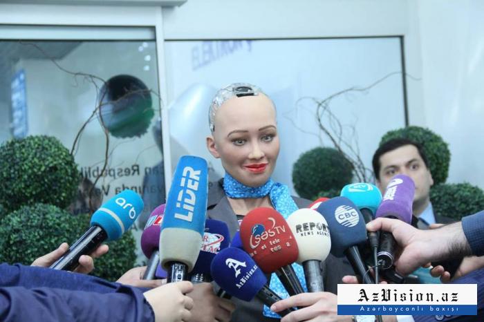 """Sophia"" gave interview to Azerbaijani journalists - PHOTOS"