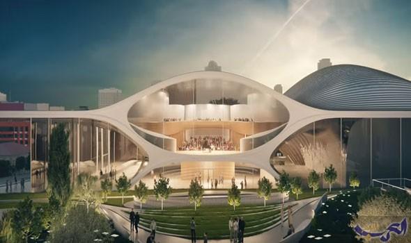 """تشييد مسرح موسيقي أسطوري من تصميم """"زها حديد"""" في روسيا"""