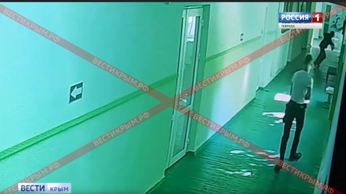 NUEVO VIDEO: El momento de la explosión y el tiroteo en la escuela de Crimea