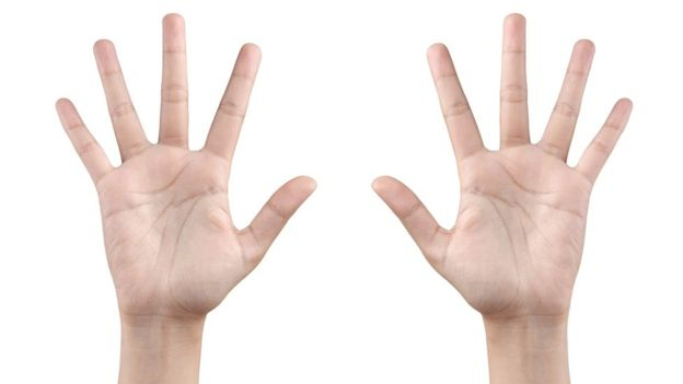 Length of ring and index fingers