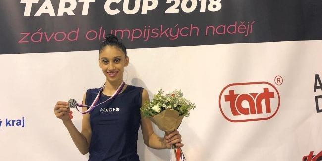 Azerbaijani female gymnast grabs silver at int'l tournament