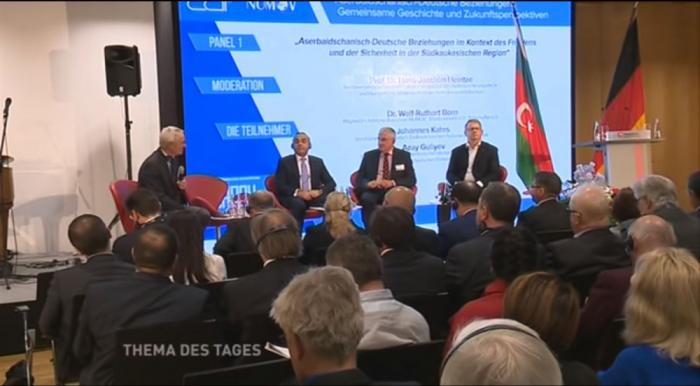 Reportaje respecto a Azerbaiyán en la cadena televisiva de Alemania