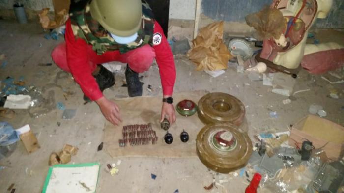 Təhsil şöbəsinin binasında hərbi sursat aşkarlanıb