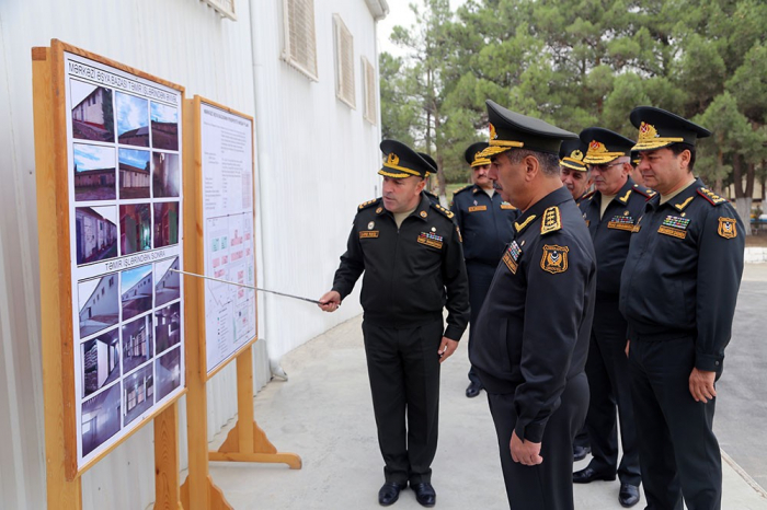 Azerbaijani defense minister attends opening of Central Military Veterinary Laboratory