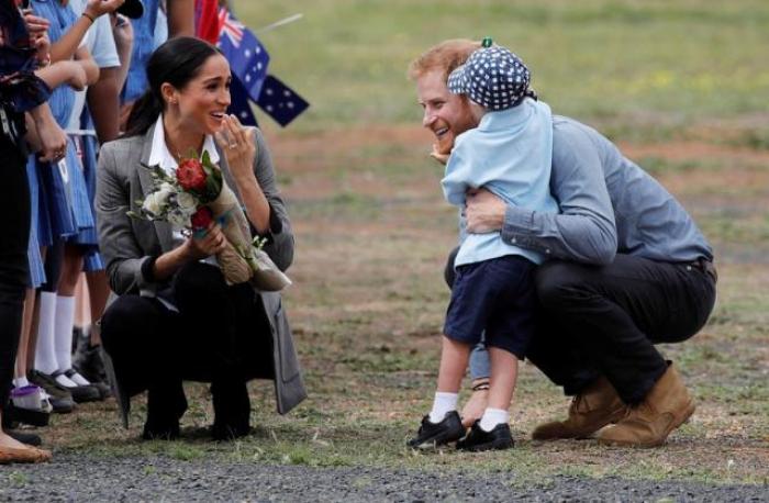 British royals reign over drought-stricken Australian town