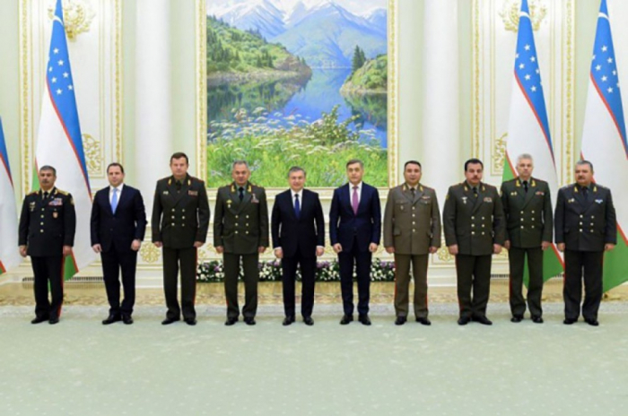 Uzbek President receives ministers of defense of CIS Member States