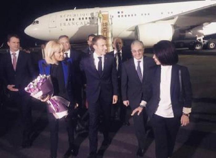 Emmanuel Macron est en visiteà Erevan
