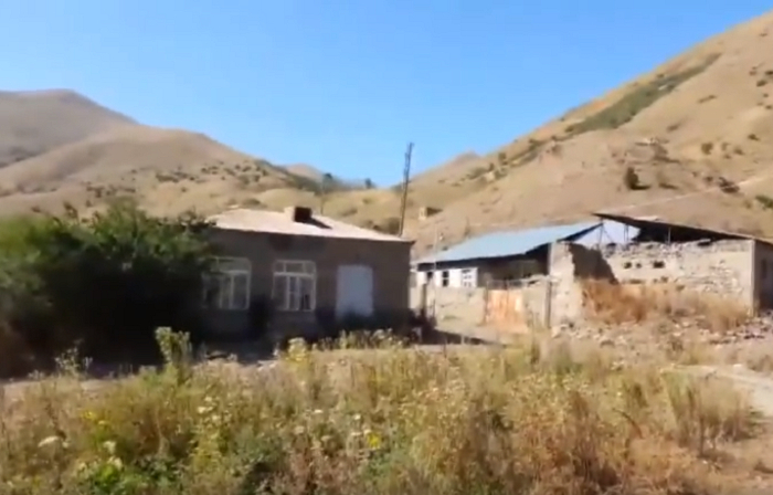 Naxçıvanla sərhəddə dağılmış erməni kəndləri - VİDEO