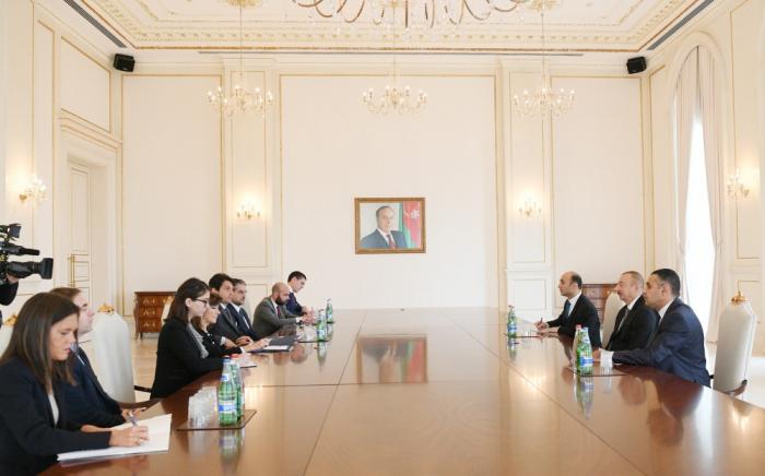 إلهام علييف يستقبل رئيس مجلس الشيوخ الإيطالي