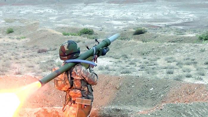 Azerbaijani Air Defense conducts combat firing using IGLA system