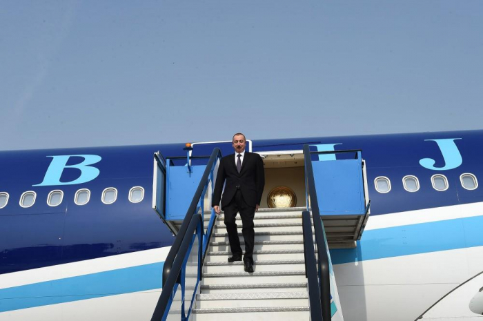 President Ilham Aliyev arrives in Turkey for working visit