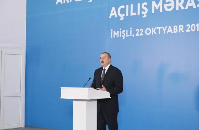 """""""Bu, bizim böyük üstünlüyümüzdür"""" - İlham Əliyev"""