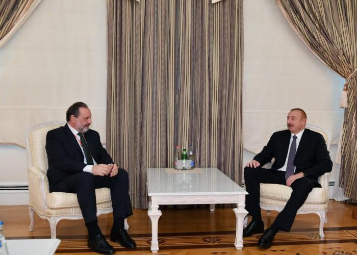 President Ilham Aliyev holds several meetings - UPDATED