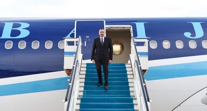 إلهام علييف يسافر إلى تركيا