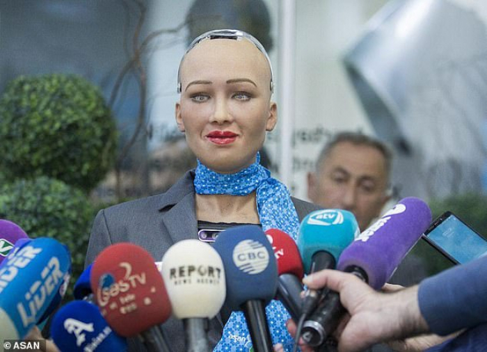 UK media writes about AI humanoid