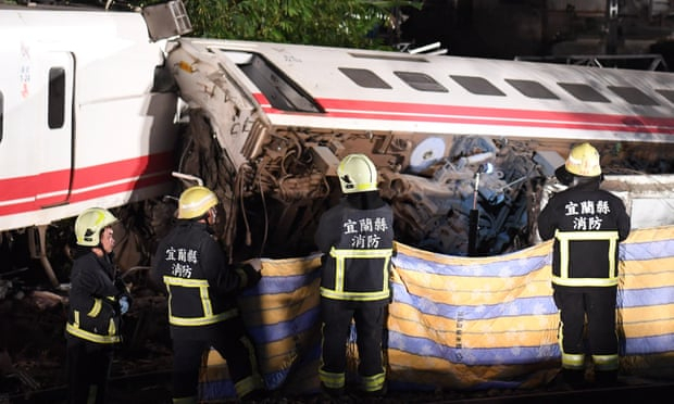 Taiwan train travelling twice speed limit before crash that killed 18