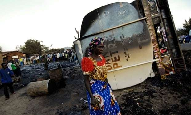 Dozens killed after oil tanker catches fire in DRC