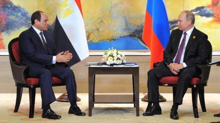 Poutine a reçu son homologue égyptien à Sotchi