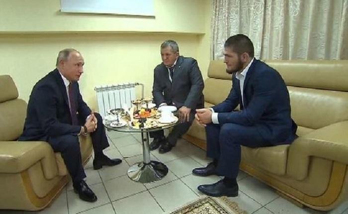 Putin Həbib və atası ilə görüşüb - VİDEO