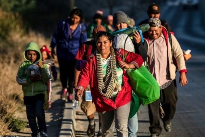 Mexique: une caravane de migrants arrive à la frontière américaine