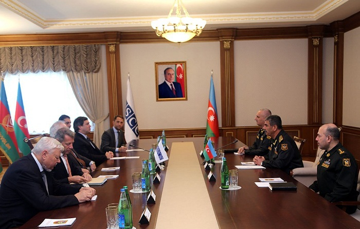 Azerbaijani defense minister, OSCE MG co-chairs discuss Karabakh conflict settlement