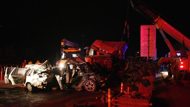 At least 14 killed, dozens more injured in vehicle pile-up in China