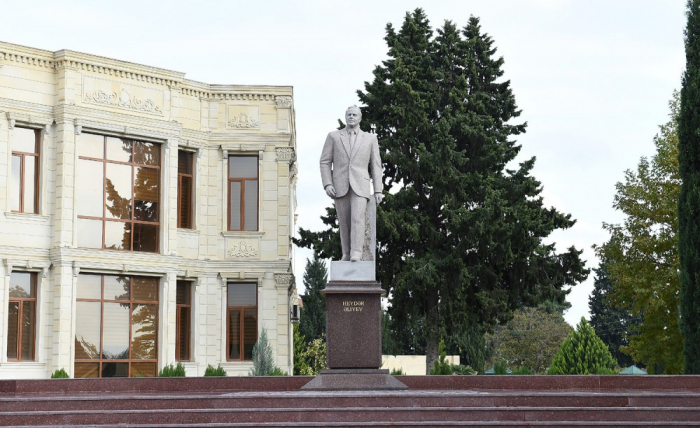 President Ilham Aliyev arrived in Aghdam district for visit
