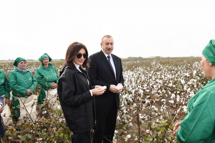 Prezident pambıqçılarla söhbət edib - FOTO