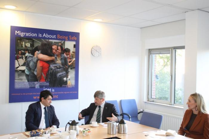 Delegation of Azerbaijani State Committee on Diaspora held meeting in Netherlands