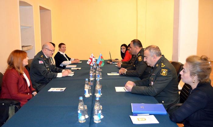 Arbeitstreffen von aserbaidschanischen und georgischen Experten für militärische Ausbildung in Baku