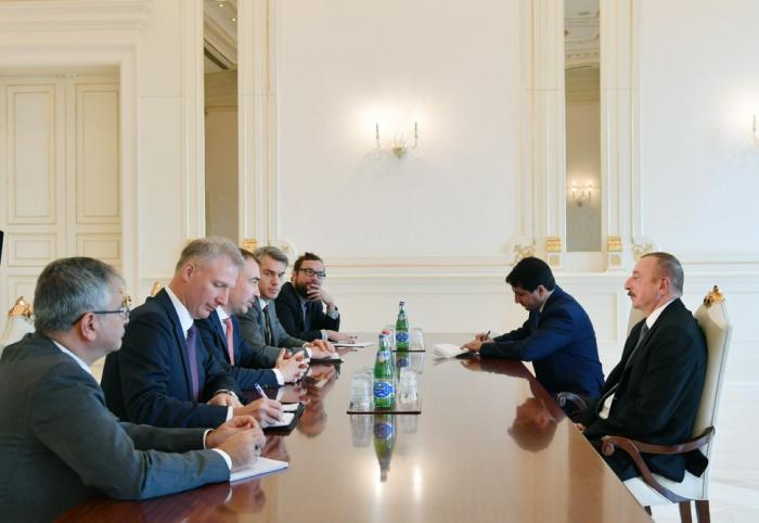 Presidente Ilham Aliyev recibe al representante especial de la UE