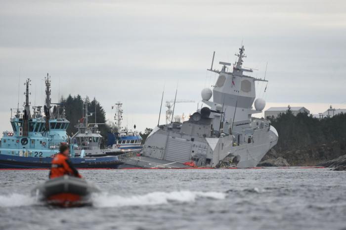 Norway warship Helge Ingstad