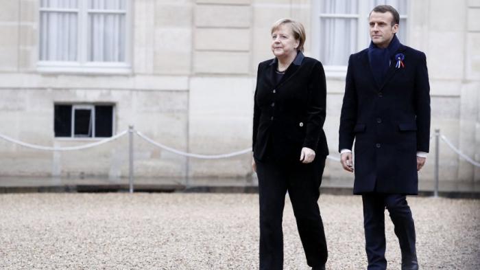 Macron und Merkel beim Weltkriegsgedenken