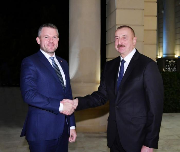 Ilham Aliyev a reçule Premier ministre slovaque