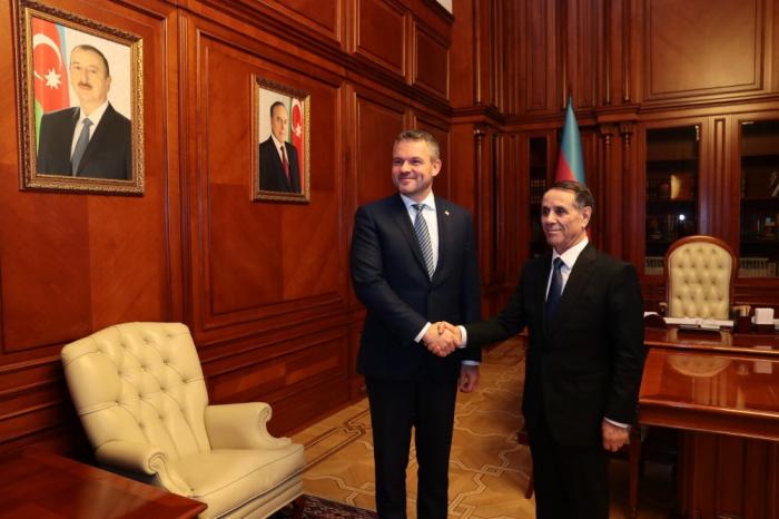 Premierminister Novruz Mammadov trifft seinen slowakischen Amtskollegen
