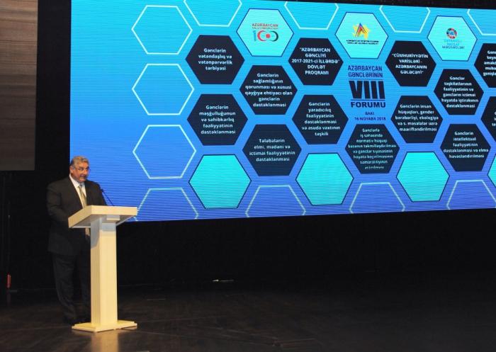 Le 8e Forum de la jeunesse azerbaïdjanaise débute à Bakou