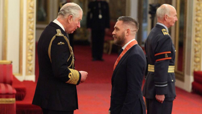 Tom Hardy made a CBE by Prince Charles