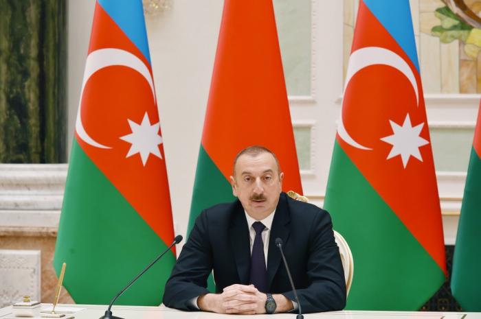 """""""Məhsullarımızı Belarus bazarına çıxarmaq niyyətindəyik"""" - Prezident"""