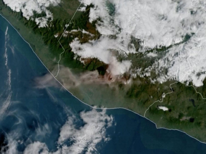 Guatemala volcano: Satellite captures video of Fuego eruption from space - VIDEO