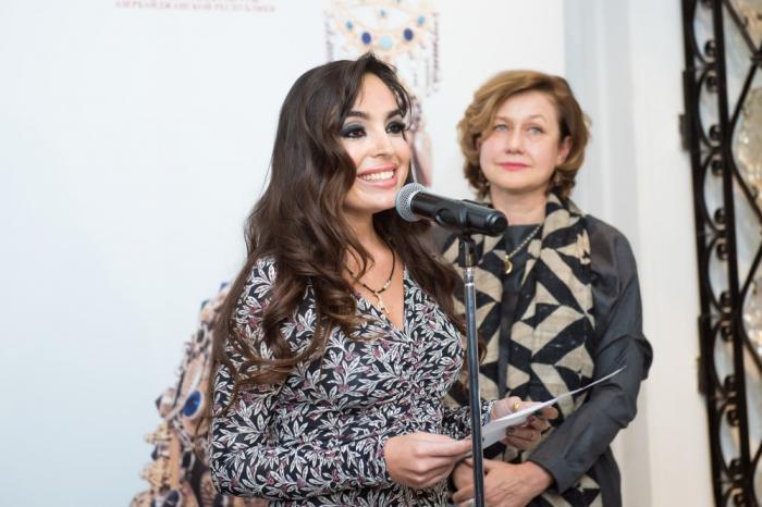 """Leyla Əliyeva Moskvada """"Yeddi gözəl"""" sərgisində - FOTOLAR"""