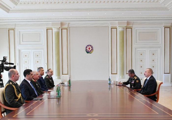 President Ilham Aliyev receives delegation led by Chief of Turkish General Staff- UPDATED