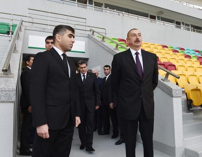İlham Əliyev Aşqabadda Olimpiya Kompleksində - FOTOLAR