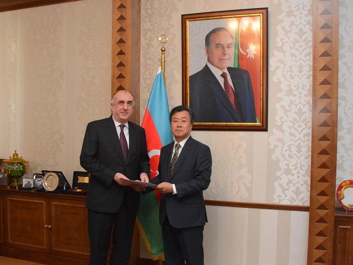FM Mammadyarov receives new South Korean ambassador