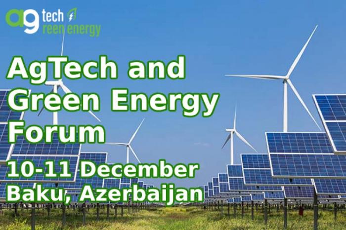 Azerbaijan to host international forum on agrarian technologies, green energy
