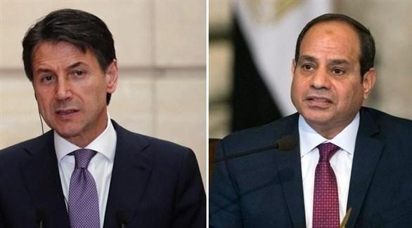 السيسي يبحث مع رئيس وزراء إيطاليا الأزمة في ليبيا