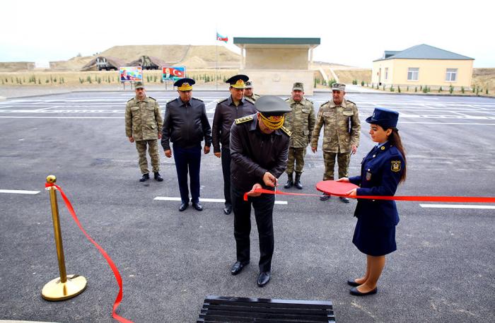 Zakir Həsənov yeni hərbi hissənin açılışında - FOTOLAR+VİDEO