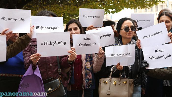 İrəvanda etiraz: Nazirin istefası tələb olunur - (FOTO)